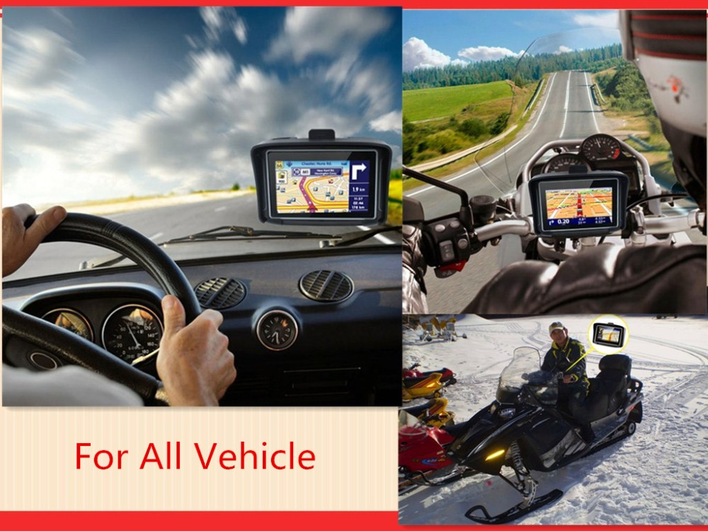 Rider High quality Motorcycle Gps Navigator waterproof 4.3 inch with factory price