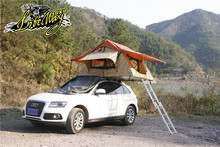 Portable Driving Travel Pop Up Canvas Car Roof Top Camping Tent