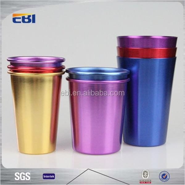 Aluminum drinking cups for elderly