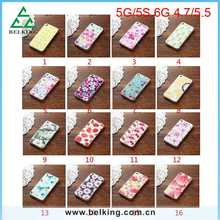 Flower/Fruit/Food TPU Printing Cover Back Case For iPhone 5/6/6 Plus Slim Thin Case