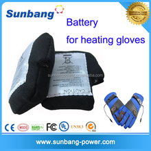 Rechargeable 103450 3.7V 3600mAh lithium polymer battery for heated gloves