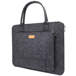 Dark Grey 11.6 13.3 15.6 17.3 Inch Felt Laptop Sleeve Bag with handle