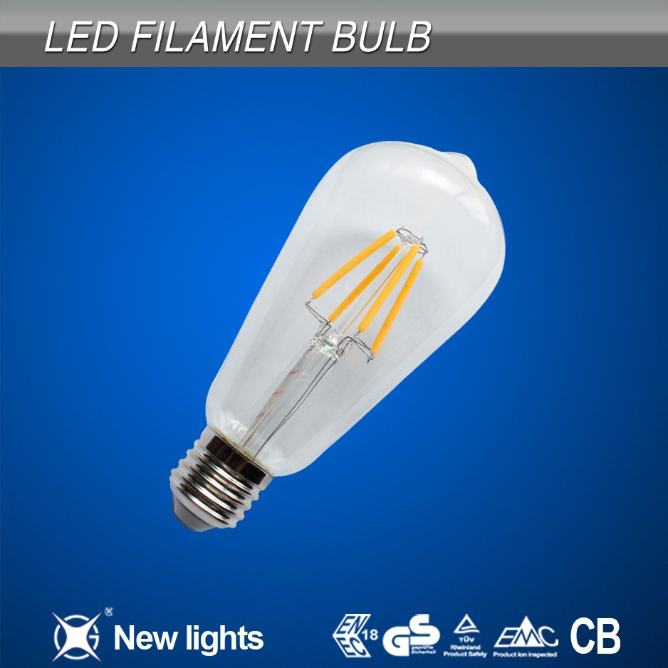 alibaba express in spanish E27 ST 64 LED Filament Lamp Bulb 2700K