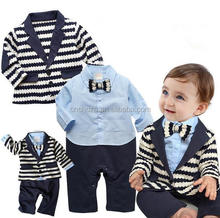 Z51837B Child Boy's Gentleman 2pcs formal clothing set Suits baby romper