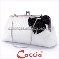 White PU leather evening clutch bags