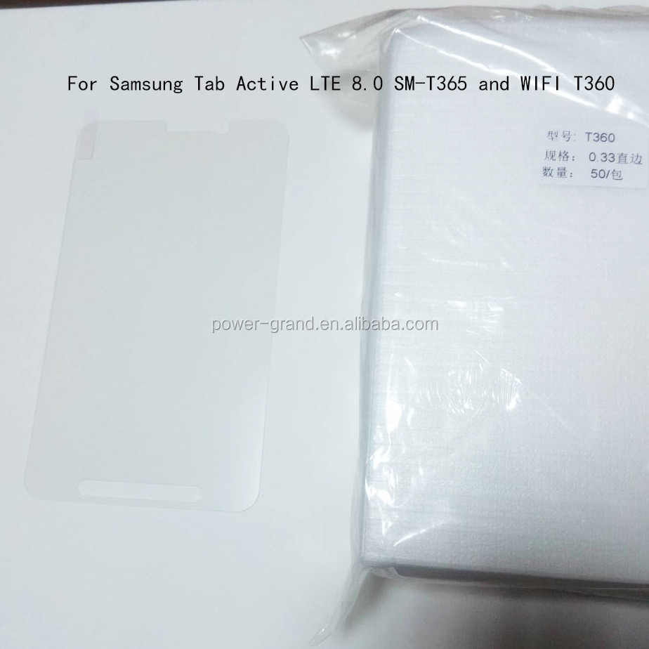 Top quality 9H Tempered Glass screen protector for Samsung Galaxy Tab Active WiFi 8.0 T360 Tablet