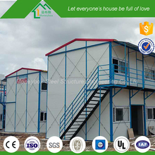 ECO friendly sandwich panels two story modular houses with precast stairs