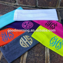 Monogram Sports Yoga Stretch Lycra Headbands in stock
