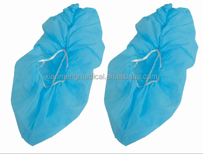 Hot sale cheap pp cpe blue lightweithg soft disposable protective clothing shoe cover