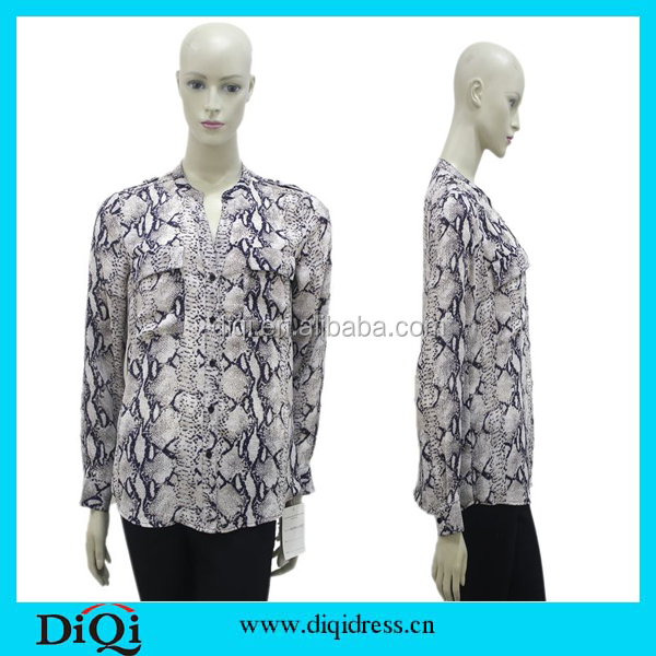 Adults Age Group and Blouses & Tops Product Type 2015 new design chiffon ladies blouse