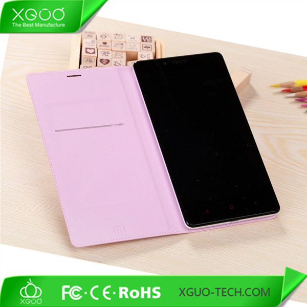soft pu leather case for xiaomi hongmi note
