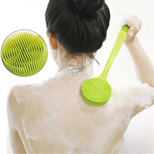 Silicone Bath Body Brush with Soft Bristles Cleaning Shower Scrubber