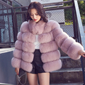 CX-G-A-121A High Quality Women Fashion Elegant Real Fox Fur Coat