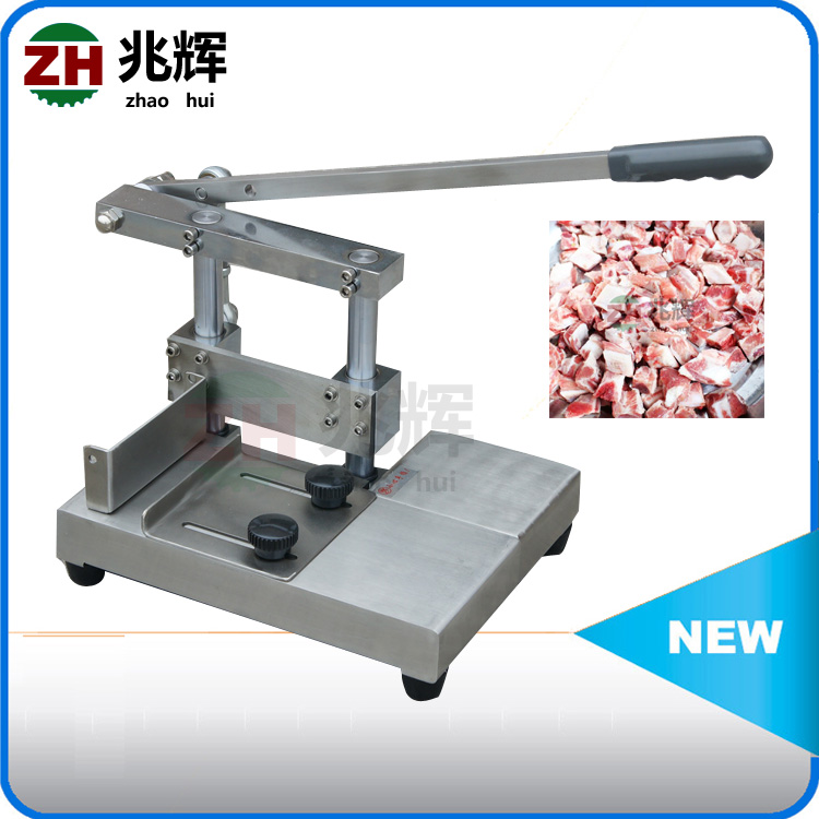 Meat Bone processing machine ribs cutter /stainless steel frozen animal ribs dicer/bone cuting machine