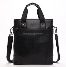custom name brand leather men shoulder bag messenger bag