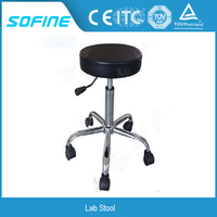 Heavy Duty Adjustable Height Lab Stool