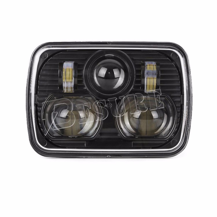 "Super Bright 65W 7 x 6'' 5""x7"" Rectangle Head Light High/Low Beam For Off Road Vehicles Jeeps"