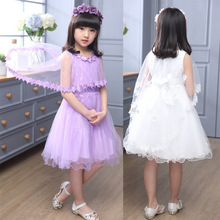 B30006A New fashion beautiful girl's new design lovely party wear lace princess dress