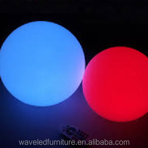 Waterproof remote control wireless glow illuminated rgb led ball light for swimming pool