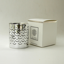 luxury silver scented candle holder