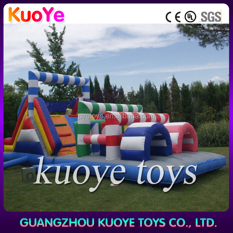kids obstacle playground funny inflatable bouncy obstacle course