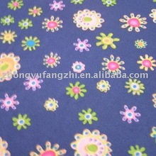 polyester brushed printed fabric