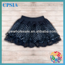 2014 Classic Black Tutu Skirts with White Dot Aim at 0-12 Year Young Girls Wholesale Baby Kids Mini Skirt