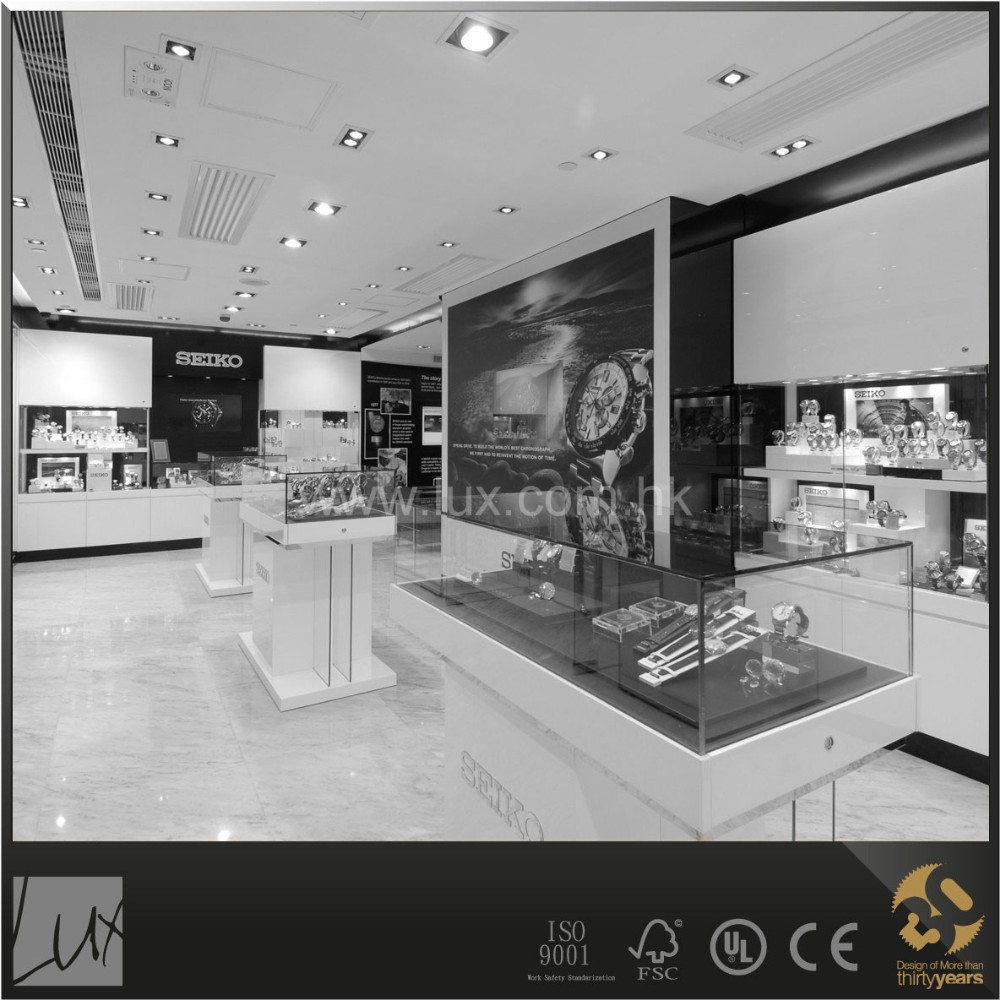 Popular style watch counter design and shop construction