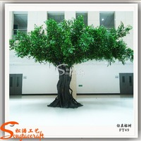 Large artificial decorative fiberglass artificial banyan /ficus tree steel products large outdoor artificial tree