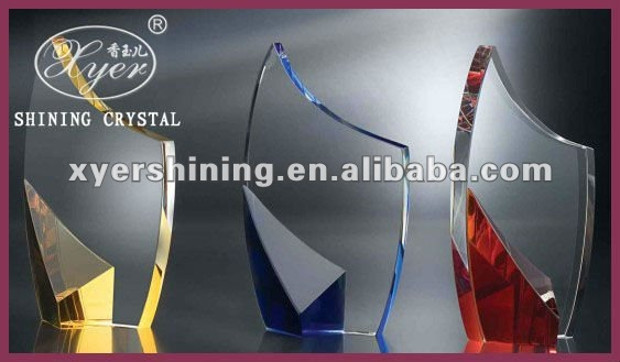 New design available size crystal award trophy