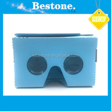 Cheap 2015 New Cardboard V2 3D Glasses High Quality Google VR 3D Gasses Max Fit 6Inch Phone Cardboard + Resin Lens OEM