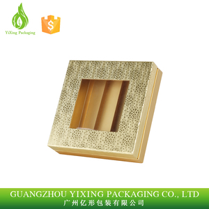 Archaize style gold hot stamping paper box with window