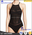 Women's fashion sexy mesh one piece swimwear.