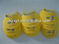 Fashion Eva foam yellow sun visor