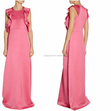 Most Popular evening dress 2015 Online Shopping For wholesale clothing ruffled silk-blend satin gown
