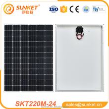 professional manufacture made pv module Mono 220w pvt hybrid solar panel