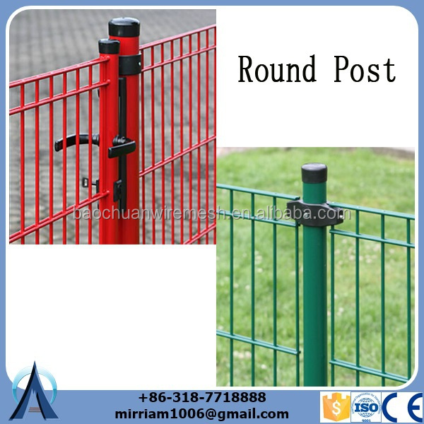 powder coat double wire in the selvedge of the mesh fence