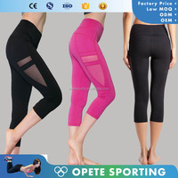 (Trade Assurance) 2016 SUPPLEX and mesh panels athletic leggings women sexy sports yoga leggings