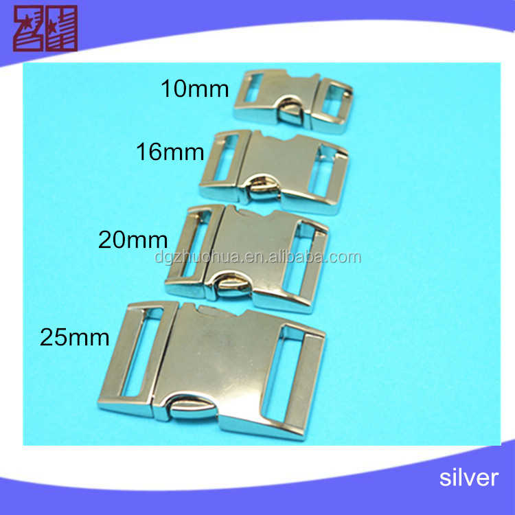 4 SIZES metal quick release buckle ,metal side release buckle,metal bag buckle for bag