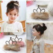 "Jewelry Wholesale!!! 2016 NEW Fashion Hair Accessories for Girl Crystal ""Crown"" Type Hair Clip Hair pin MoonSo KH2609"