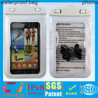 Inflatable pvc waterproof case for galaxy note 3