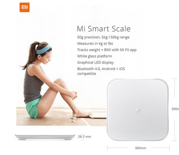 White Mi Smart Scale Xiaomi Digital Weighing Scales support Android IOS household scale