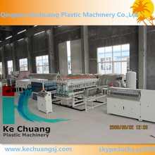 PE single wall corrugated pipe making machine/corrugated pipe for threading