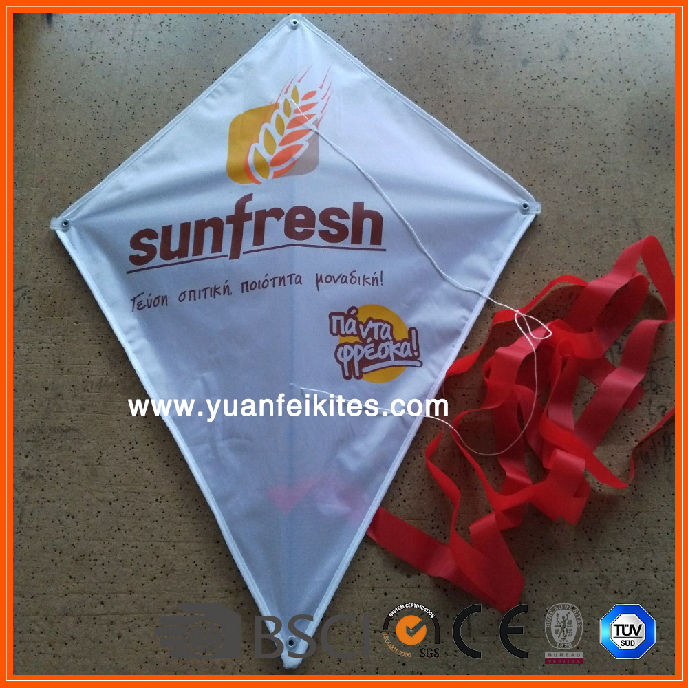 promotional advertising custom logo printing diamond kite