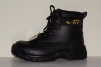 PU injected steel toe leather safety boot