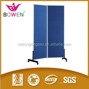 Fabric surface and back in various color foldable aluminium ABS corners pin folding board with easel