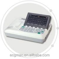 New Digital Portable 3 Channel ECG/ EKG machine with Foldable LCD display and connectivity to USB Printer and Network