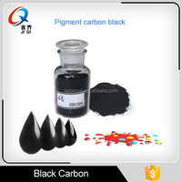 Granular and powder pigment carbon black, easy dispersible and blacknes