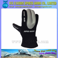 Waterproof Neoprene gloves with glue and blind stitiching