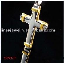 2012 HOT Sale High Quality Gold And Silver Mixed Color 316L Stainless Steel Pendant